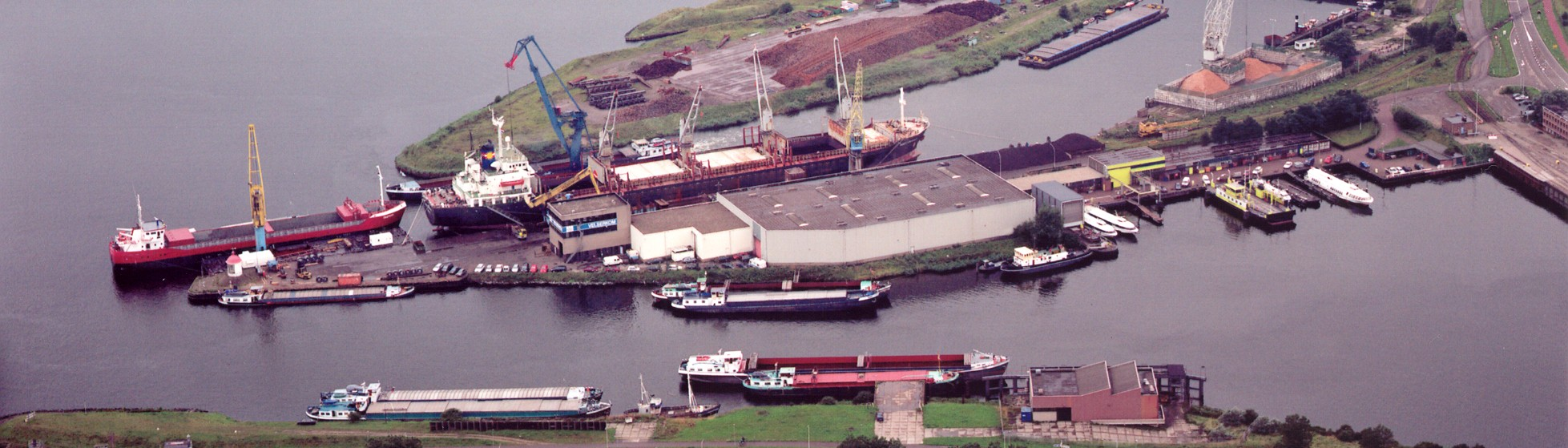 Aerial view of the Nebam shipping agency