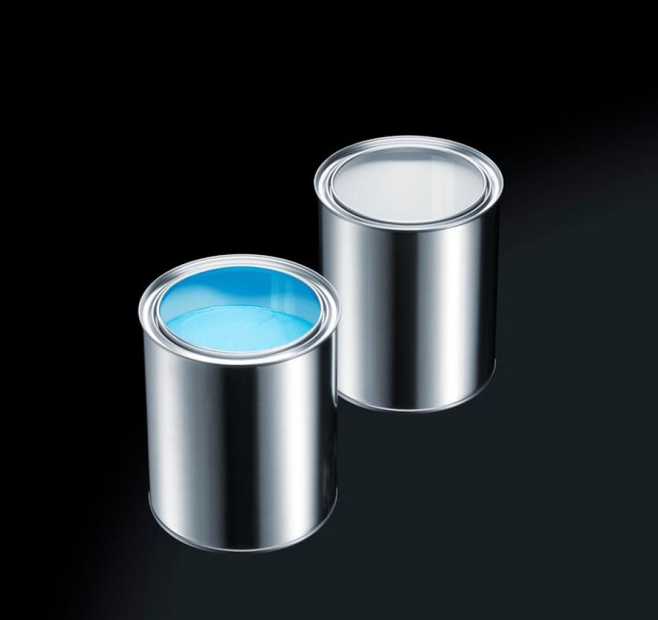 Two paint cans
