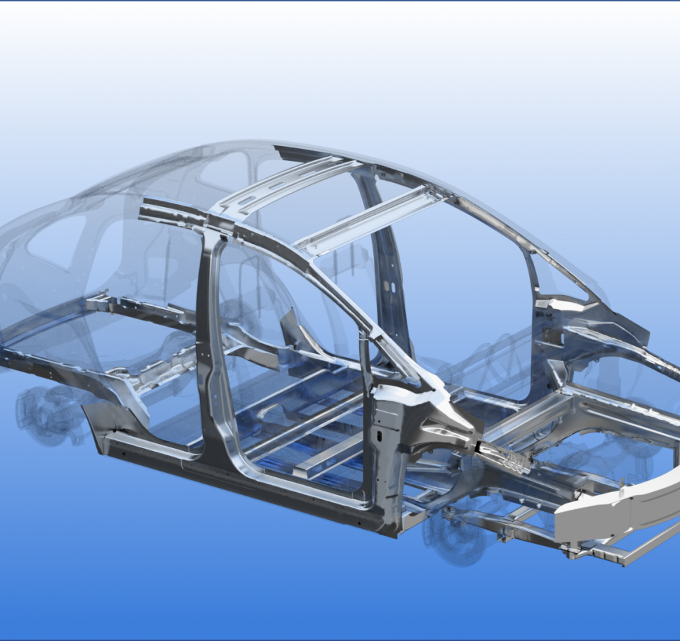 3D picture of a car frame