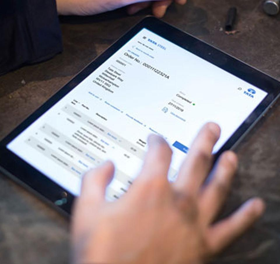 Using a mobile device to view your order